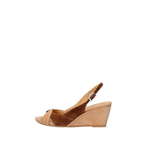 CALPIERRE sandali donna marrone camoscio beige AG738 (36 EU)
