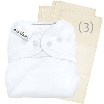 econobum Cloth Diaper Cover Kit - Snap - White Trim - One Size