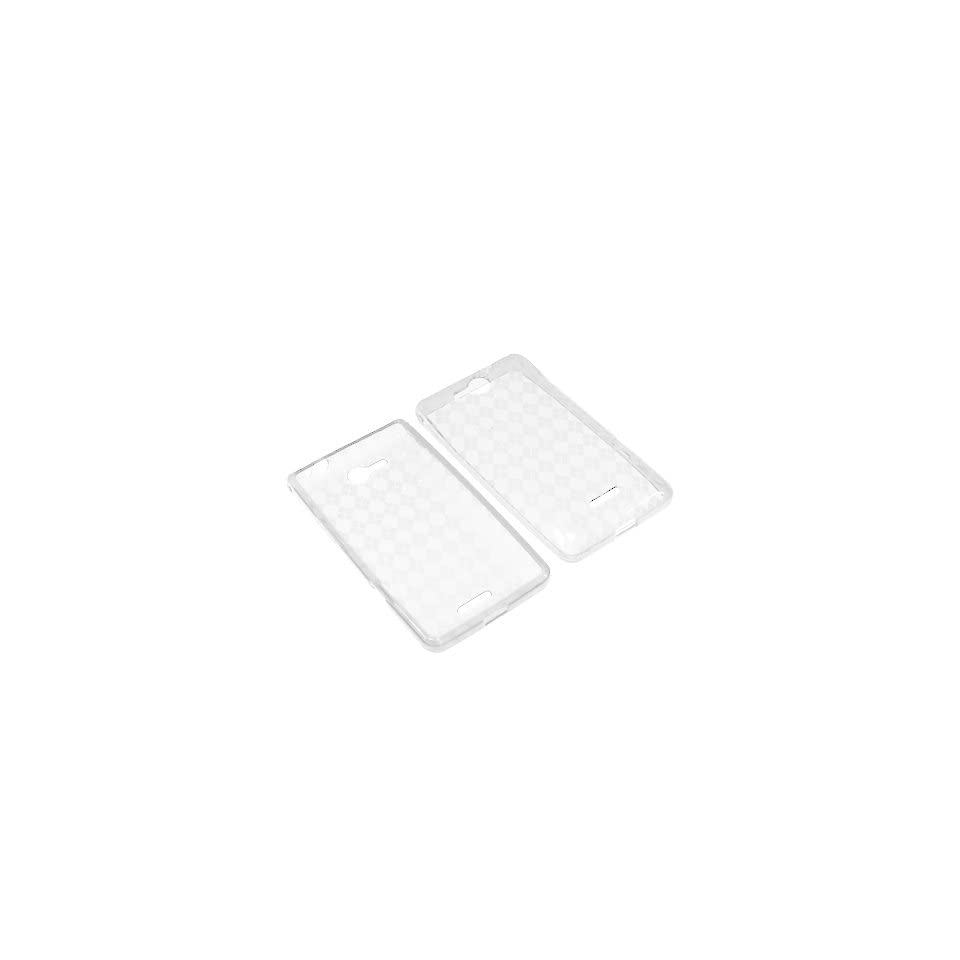 BW TPU Sleeve Gel Cover Skin Case for Verizon LG Lucid 4G VS840  Clear Checker