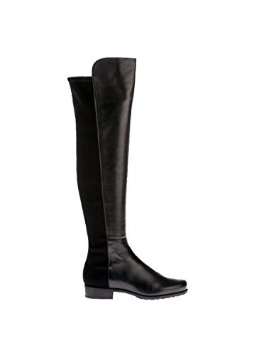 STUART WEITZMAN WOMENS 5050NAPPANERO BLACK LEATHER BOOTS