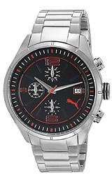 Puma Driver Chrono Metal - L Silver Men's watch #PU102621004