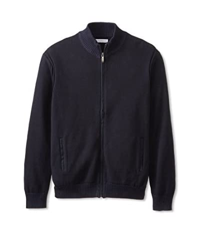Alex Cannon Men's Zip Cardigan with Elbow Patches
