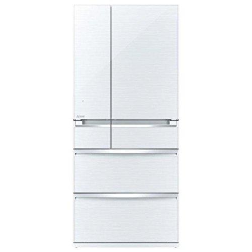 三菱 705L 6ドア冷蔵庫(クリスタルホワイト)MITSUBISHI 置けるスマート大容量 切れちゃう瞬冷凍 MR-WX71Z-W