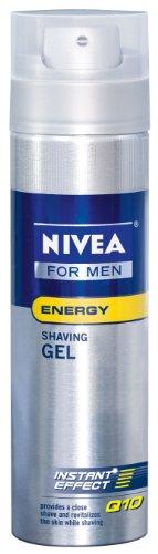 NIVEA Nivea for Men Q10 Energy Shaving Gel, 7-Ounce Bottles (Pack of 3)