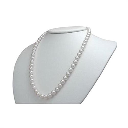 White Freshwater Cultured Pearl Necklaces- Double Strung on Silk