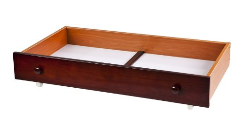 Dream On Me Trundle Storage Drawer for Mini Cribs, Cherry, Large