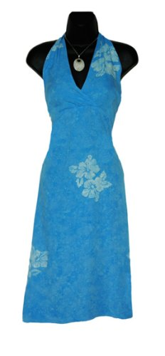 WOMENS SUN DRESS / SUNDRESS 'BLUE'