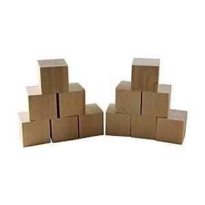 1 5 natural unfinished hardwood 10 pack craft wood blocks by woodpeckers. Black Bedroom Furniture Sets. Home Design Ideas