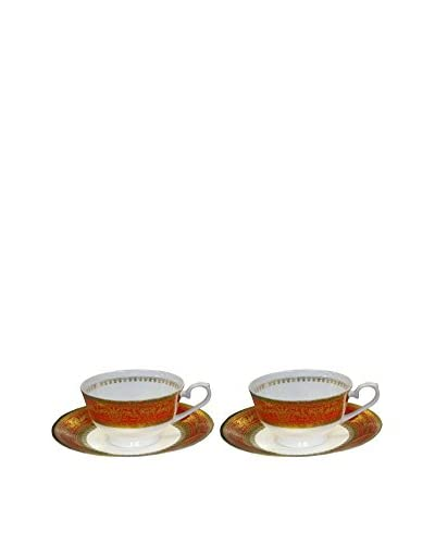 Auratic 4-Piece Tea Set, Red