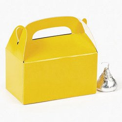 MINI YELLOW TREAT BOXES (2 DOZEN) - BULK