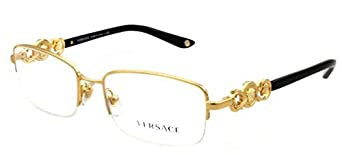 3bb20574714 www.lesbauxdeprovence.com Versace VE1199 Eyeglasses-1002 Gold-53mm  Clothing