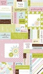 Making Memories Garden Party Word Fetti II Stickers