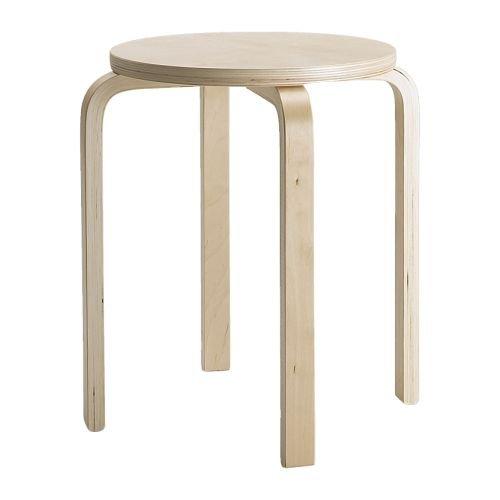 IKEA FROSTA - Taburete, contrachapado de abedul