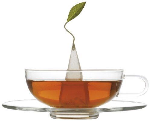 Sontu Glass Teacup and Saucer by Tea Forte - Artisan Glass [並行輸入品]