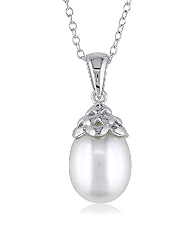 Michiko 9-9.5mm White Freshwater Pearl Pendant Necklace