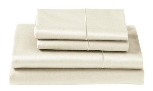 Cuddledown 400 Thread Count Deep Pocket Fitted Sheets, King, Ivory front-1017320