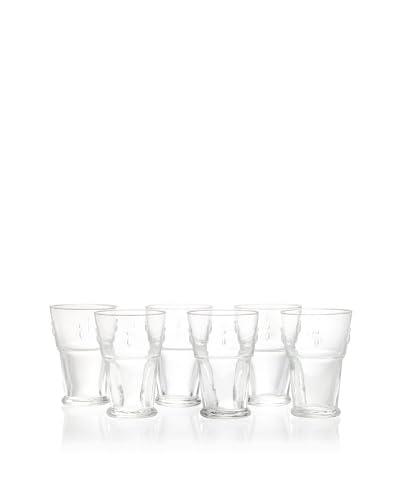 La Rochère Set of 6 Bee Décor 13-Oz. Tall Drink Glasses