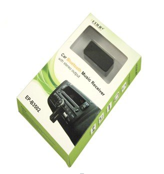 Edup Ep-B3502 Wireless Car Bluetooth Music Receiver Stereo Output A2Dp For Phone Ipod 3.5Mm