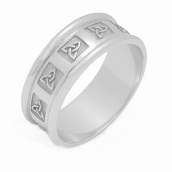 18K Gold 7Mm Celtic Trinity Knot Wedding Band C4010 - Size 10.75