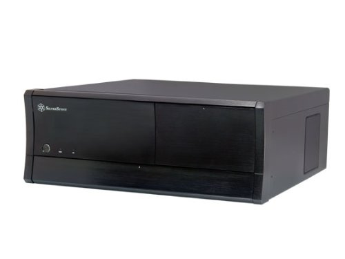SilverStone SST-GD01B-M Grandia PC-Gehäuse (micro-ATX, 2x 5,25 externe, 6x 3,5 interne, Multimedia, 2x USB 3.0) schwarz
