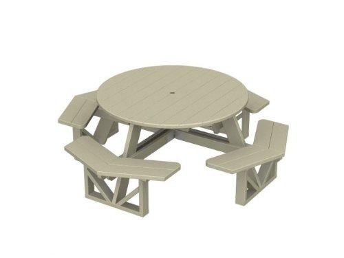 Remarkable 89 Recycled Earth Friendly Outdoor Round Picnic Table W Inzonedesignstudio Interior Chair Design Inzonedesignstudiocom