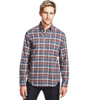 Blue Harbour Pure Cotton Bold Checked Shirt