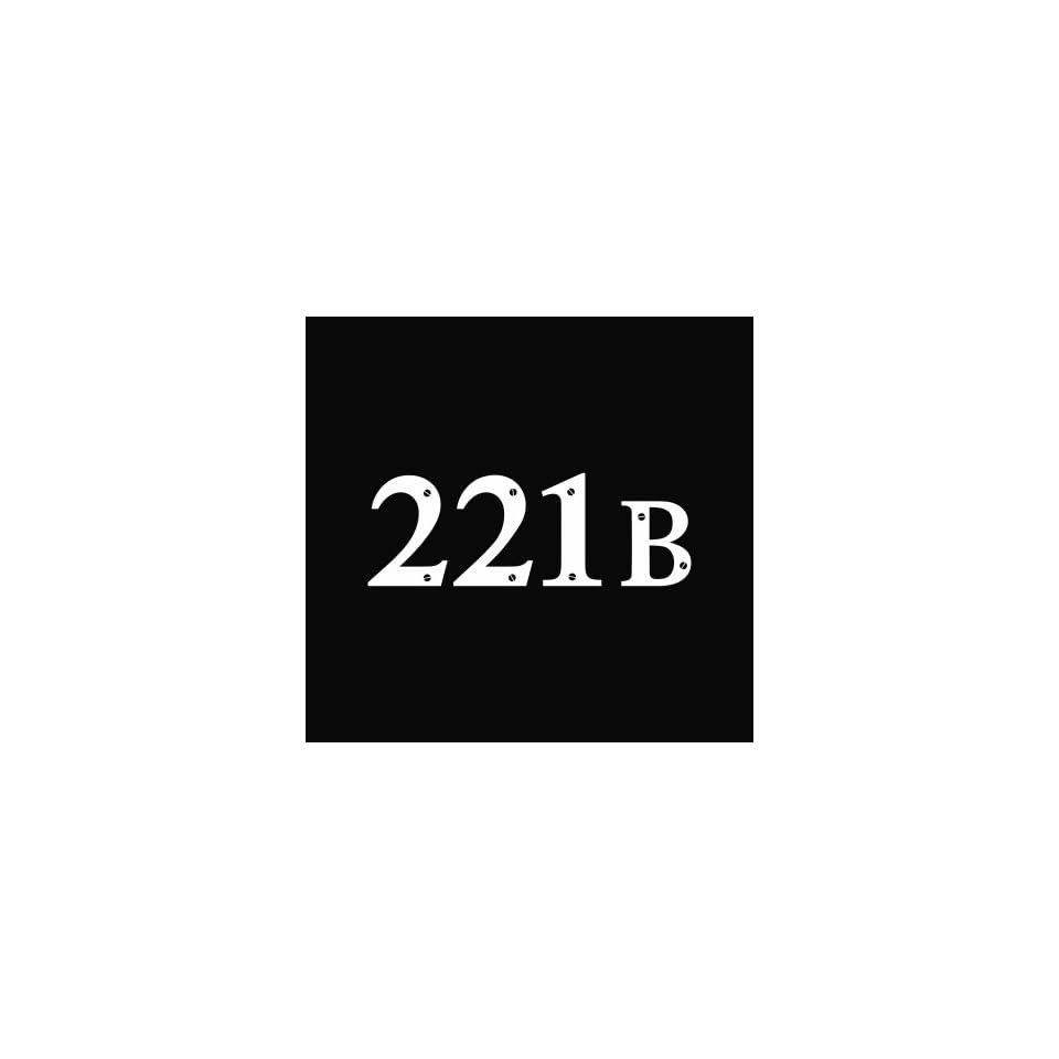 221B Baker Street BBC Sherlock Vinyl Die Cut Decal Sticker 5 White
