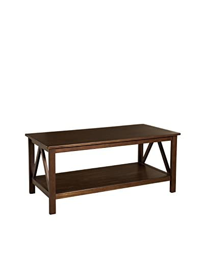 Linon Home Décor Titian Coffee Table, Antique Tobacco