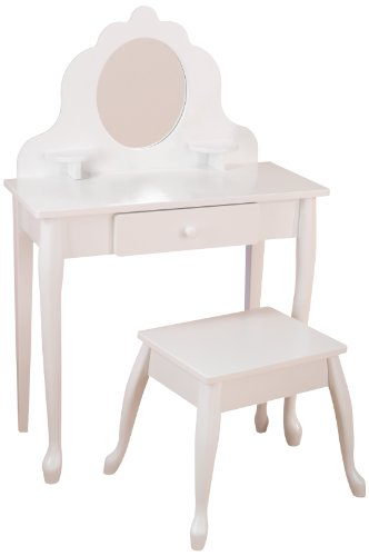 Kidkraft Medium Vanity  &  Stool 13009 Furniture (White)