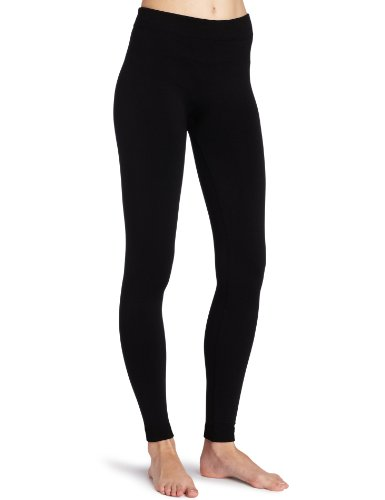 K. Bell Socks Women's Fleece Lined Legging, Black, Medium/Large