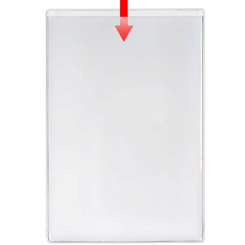 "Storesmart® Remove & Reuse - 10 Peel & Stick Pockets - 6"" X 9"" - Open Short Side - Vinyl Plastic - Psr1466S-10 front-638976"
