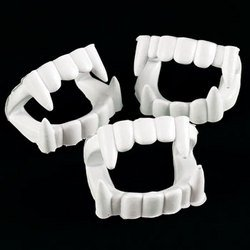 24 ct White Plastic Halloween Vampire Teeth
