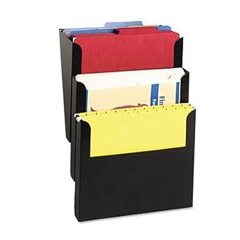 SteelMaster Steelmaster Wall File Kit, Letter, Three Pocket, Black