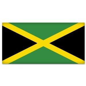 "Jamaica Jamaican Flag car bumper sticker decal 5"" x 4"""