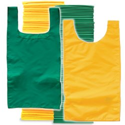 Youth Pinnies 72 Pack Green Yellow (PAC) by SSG