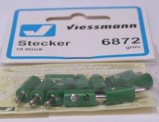 Viessmann 6872 Stecker mit Querloch 10 Stk. grün