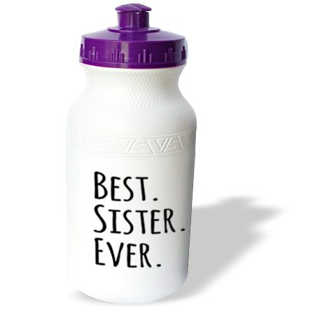 Wb_151539_1 Inspirationzstore Typography - Best Sister Ever - Gifts For Sisters - Black Text - Family And Relatives Sibling Gifts - Water Bottles front-35723