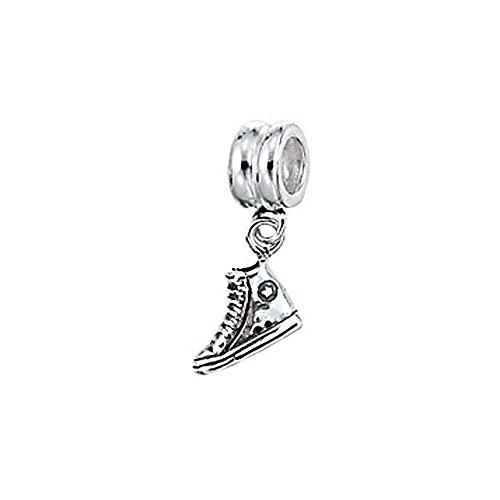 Zable Sterling Silver Sneaker Dangle Bead