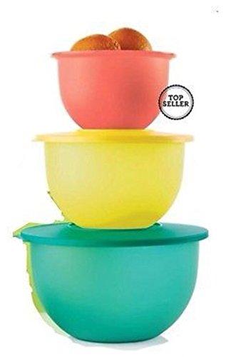 Tupperware Impressions Classic Bowl Set Spring Color NEW