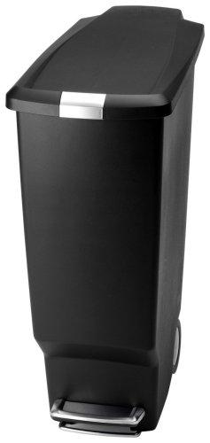 simplehuman 40ltr slim plastic bin black