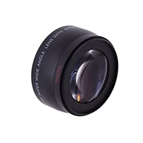 58mm Includes Lens Adapter 58mm + Nwv Direct Micro Fiber Cleaning Cloth for Canon Powershot A650IS 0.21x-0.22x High Grade Fish-Eye Lens