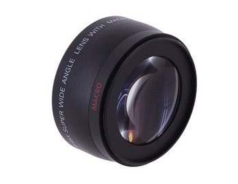 1458W-R 58Mm 0.45X Digital High Definition Super Wide Angle Lens With Macro (Black)