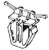 CRL 1984-1985 Honda Accord 4 Door Lower Grille Moulding Clip