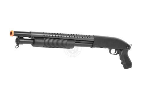 BBTac Airsoft Pump Action Shotgun Rifle 400 FPS Police (Airsoft Guns Fps 400 compare prices)