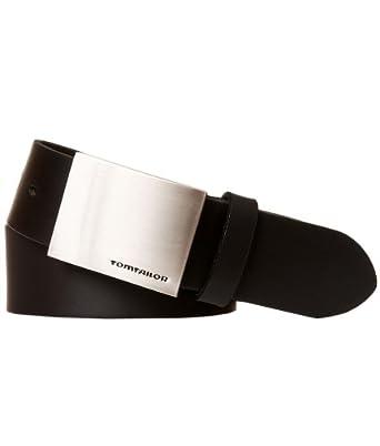 TOM TAILOR Herren Gürtel Herrengürtel Leder Gürtel Ledergürtel 40 mm schwarz, länge:80