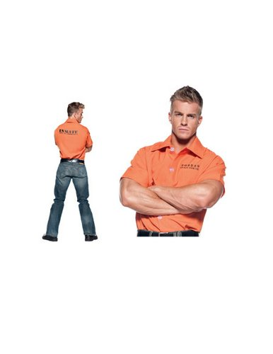 Orange Prisoner Shirt Costume