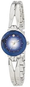 Armitron Womens 75-2967BLU NOW Silver-Tone Diamond Accent