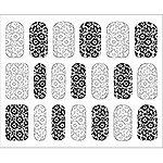 オンジェルズ ジェルネイルアートシート ハッピーフラワーブラック&ホワイト #733