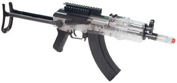 Crosman Pulse R76 Tactical Full Or Semi-Auto Electric  AirSoft Rifle (Clear and Black)