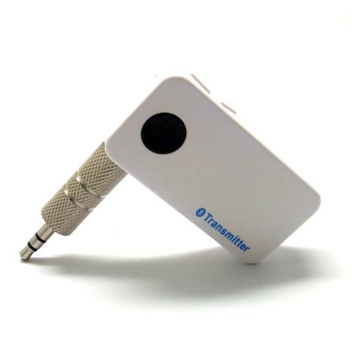 Generic Mini Wireless Ad2P Bluetooth Stereo Music Audio Wireless Transmitter 3.5Mm With Microphone Color White